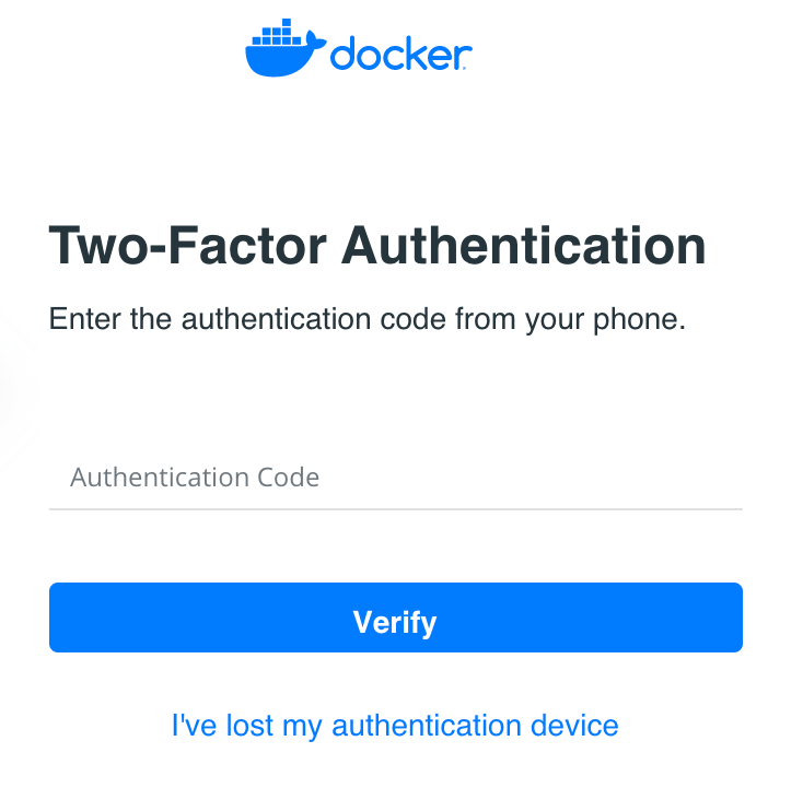 Lost authentication device