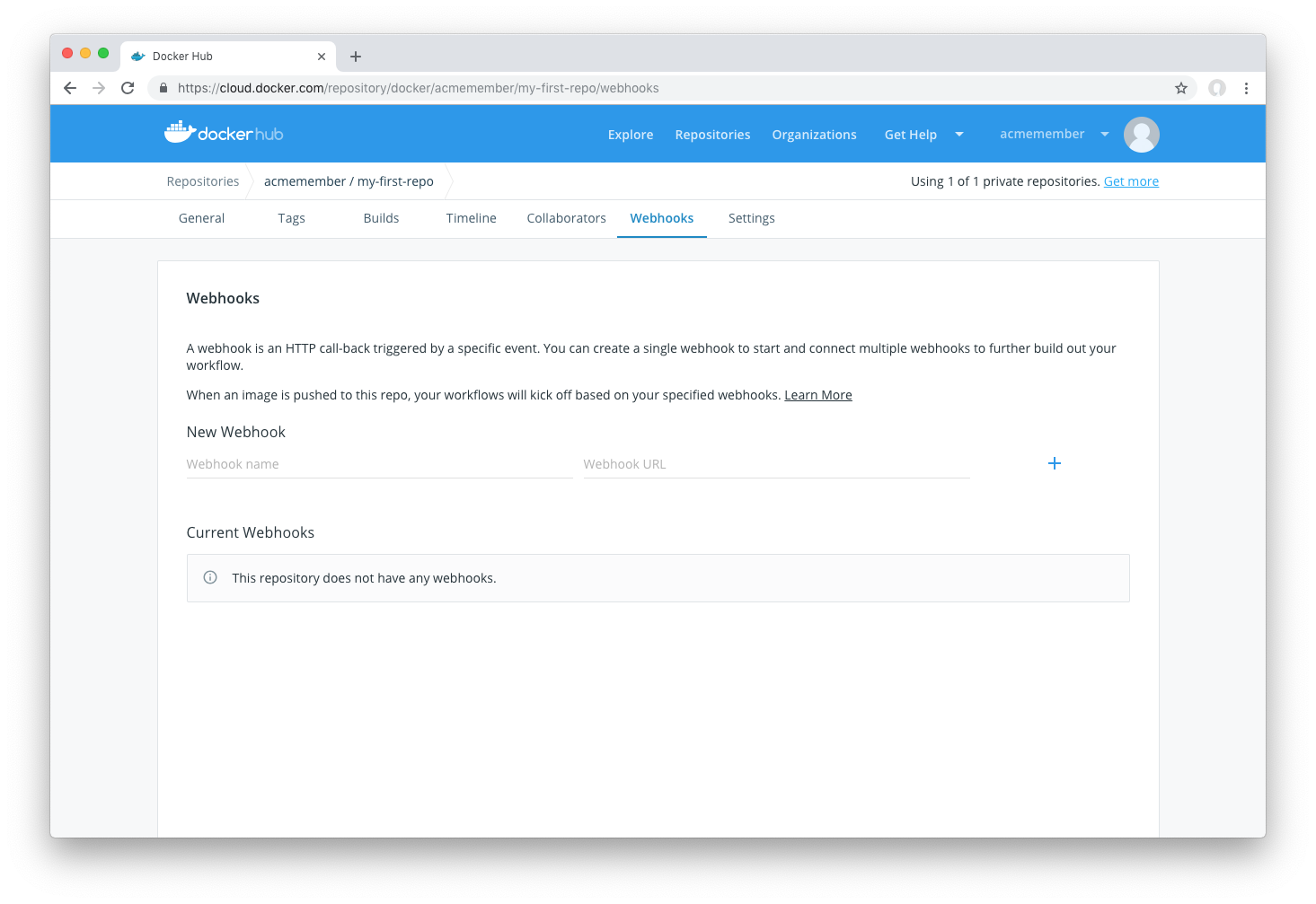 Docker Hub Webhooks | Docker Documentation