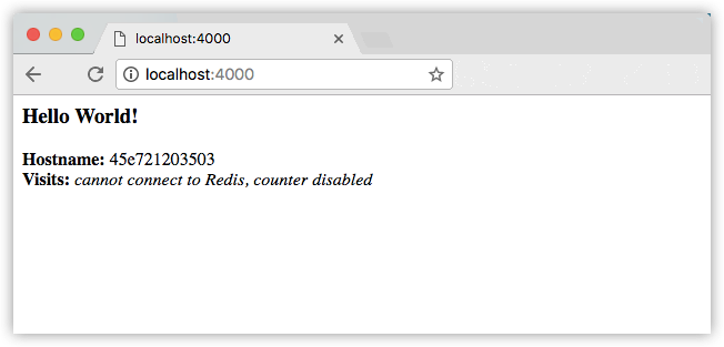 Hello World in browser